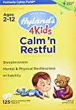 Hyland's 4 Kids Natural Calm'n Restful Tablets, Natural Symptomatic Relief of Sleeplessness and Restlessness in Kids, 125 Count