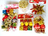 52Pcs Mix Christmas Combo Tree Hanging Ornament Party Xmas Decoration (Check description for more info)