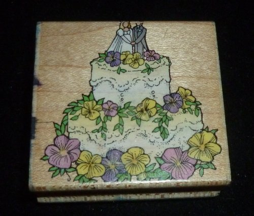 Wedding Cake Rubber Stamp - 1