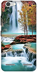 The Racoon Lean amazing waterfall hard plastic printed back case / cover for Lenovo Vibe K5 Plus