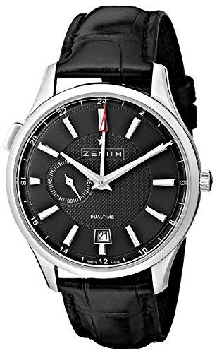 Zenith 03.2130.682/22.C493 - Reloj de pulsera hombre, piel, color negro