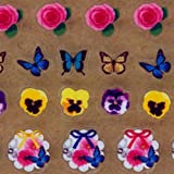 Kawaii butterfly rose flower trefoil stickers