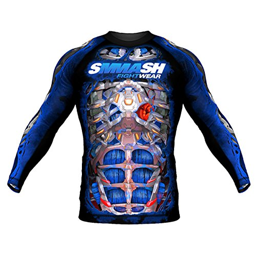 Rashguard SMMASH FIGHT MACHINE ELECTRIC Manche Longue MMA