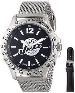 Game Time Mens NBA-CAG-UTA Cage NBA Series Utah Jazz 3-Hand Analog Watch by Game Time