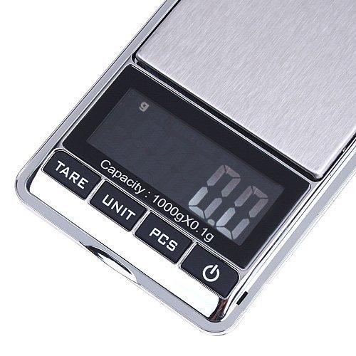 SODIAL(R) 0.1g-1000g Balance numerique de LCD Argent