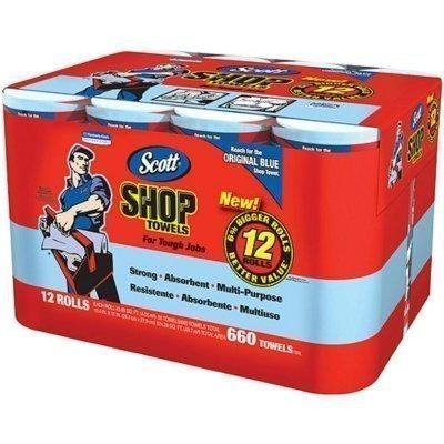 SCOTT- Shop Towels, 12 rolls (Blue Shop Towels compare prices)
