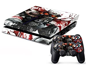 PS4 Designer Skin for Sony PS4 Console System Plus Two(2) Decals For: Playstation 4 Dualshock Controller - KillZone