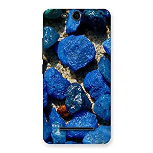 Premier Blue Rocks Multicolor Back Case Cover for Micromax Canvas Juice 3 Q392