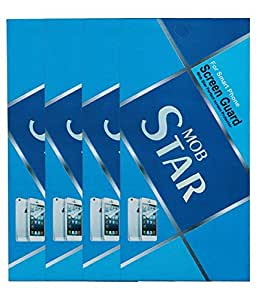 MOBSTAR Clear Screenguard for Lava Iris 402 (Pack of 4)