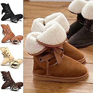 Ankle Boots Winter Shoes botas,zapatos Black 6: Home & Kitchen