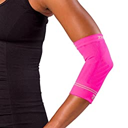 Zensah Compression Tennis Elbow Sleeve for Elbow Tendonitis, Tennis Elbow, Golfer\'s Elbow - Elbow Support, Elbow Brace,Small,Neon Pink