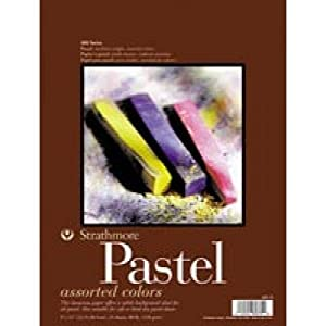 Strathmore 403110 80-Pound 24-Sheet Strathmore Assorted Color Pastel Paper Pad, 11 by 14-Inch