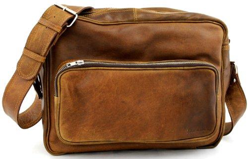 Retro colore naturale (M) borsa pelle vintage, la borsa a spalla, borsa a tracolla, PAUL MARIUS, Vintage & Retro
