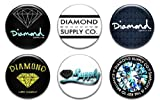 "Set of 6 New Diamond Supply Co 1.25"" Pinback Button Badge Pin"