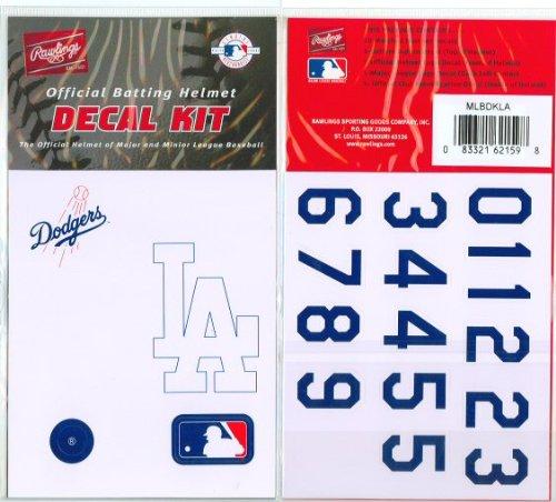 rawlings-major-league-baseball-team-helmet-decal-kit-los-angeles-dodgers-one-size