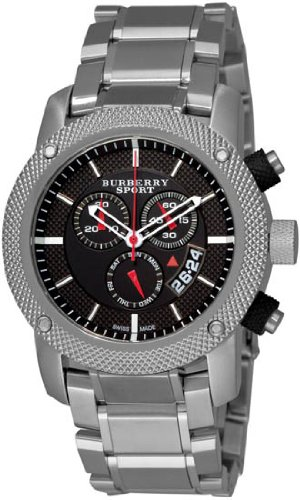 Burberry Men's BU7702 Heritage Black Chronograph Dial Bracelet Watch
