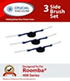 3 Roomba 400 Series Replacement Side Brushes Designed To Fit iRobot Dirt Dog, iRobot Roomba 400 Series and Discovery models; Compare To Roomba part # 11239; Designed & Engineered By Crucial Vacuum