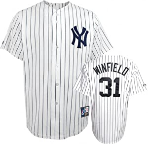 Dave Winfield New York Yankees Pinstripe Cooperstown Replica Jersey by Majestic