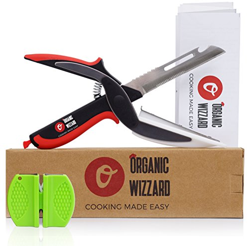 organic-wizzard-kitchen-knife-with-cutting-board-and-sharpener-5-in-1-universal-scissors-food-choppe