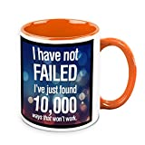 HomeSoGood I Have Not Failed Office Quote White Ceramic Coffee Mug - 325 Ml