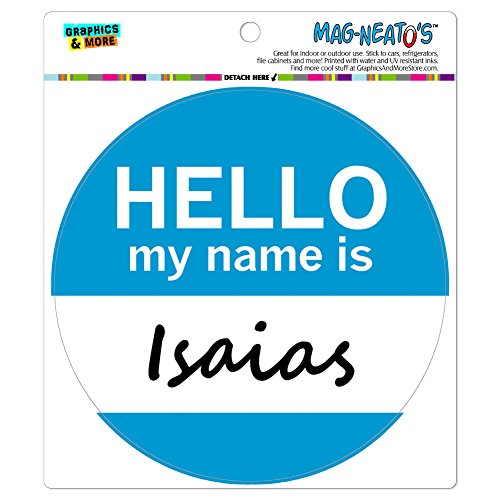 isaias-hello-my-name-is-mag-neatostm-automotive-car-refrigerator-locker-vinyl-magnet