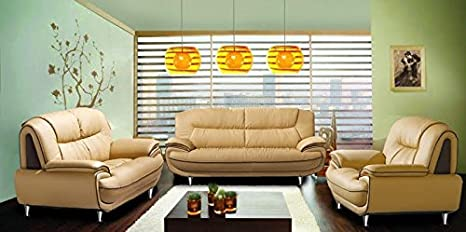 PASADENA beige light brown faux leather sofa suite living room furniture archmair sofas couches sofa set