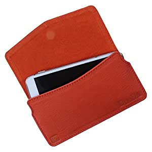 Dooda Genuine Leather Pouch Case For Micromax Canvas XL A119 (ORANGE)