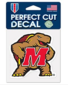 Buy NCAA Maryland Terrapins Color 4x4 inch Vinyl Die-Cut Decal by WinCraft