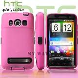 HTC EVOケース スクリーン プロテクター付属3重構造 (au WiMAX ISW11HT Screen Protector Case ) 【黒 × ホットピンク】
