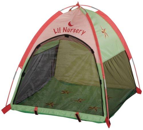"Pacific Play Tents Star Light Lil Nursery Tent W/1 1/2"" Pad 36""X36""X36"" #20004 Green/Pink front-762818"