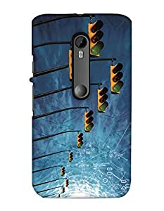 Print Haat Back Cover for Moto X Play (Multi-Color)