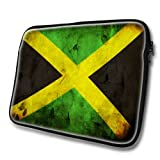Flags Jamaica 1, Water-resistant neoprene fabric / laptop bag / sleeve with zipper for 15