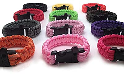 Personal Protection Attack or Rape Whistle. 550 Paracord Bracelet TSA, Air Travel Friendly, Med Alert, Be Safe! Wristband Covers Self Defense Emergency Preparedness Survival Gear Alarm Running Shoes Shoelaces Towing Safety Outdoor Camping Ties