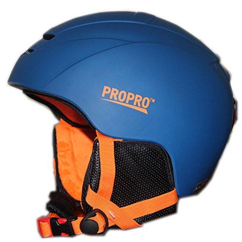 SUNVP Snowboard Ski Helmet Integrally Ultralight Windproof Warmest Outdoor Snow Sports Snowmobile Skateboard Unisex Adult(Blue, M(21.26''-22.84''))