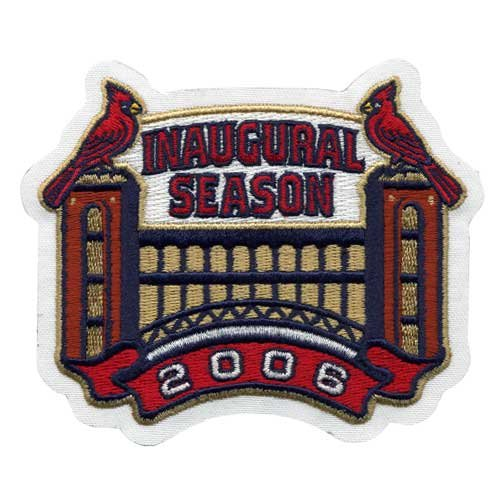 "2006 St. Louis Cardinals ""Inaugural Season"" Busch Stadium Jersey Sleeve Patch at Amazon.com"