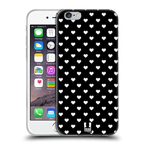Head Case Designs Cuori Patterni B&N Cover Morbida In Gel Per Apple iPhone 6 / 6s
