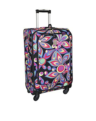 Jenni Chan Wild Flower 25 Inch 360 Quattro Upright Spinner, Multi Color
