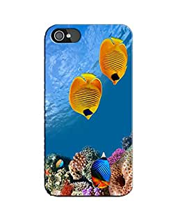 EU4IA Under Water Fishes And Corals Pattern MATTE FINISH 3D Back Cover Case F...