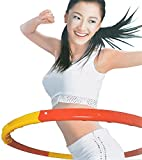 FunkyBuys® Kids/Adults RED/YELLOW Small Large Hula Hoops DIA:86cm Sporting Good Fitness Weighted