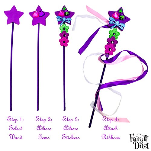 Fairy dust make your own wand party kit includes 6 wands for Wand making kit
