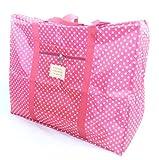 選べる オシャレ かわいい トラベル ボストン バッグ 旅行 カバン に 乗せて 使える キャリー オン バック (レッド(大))