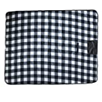 west5products White & Grey Tartan Fol...