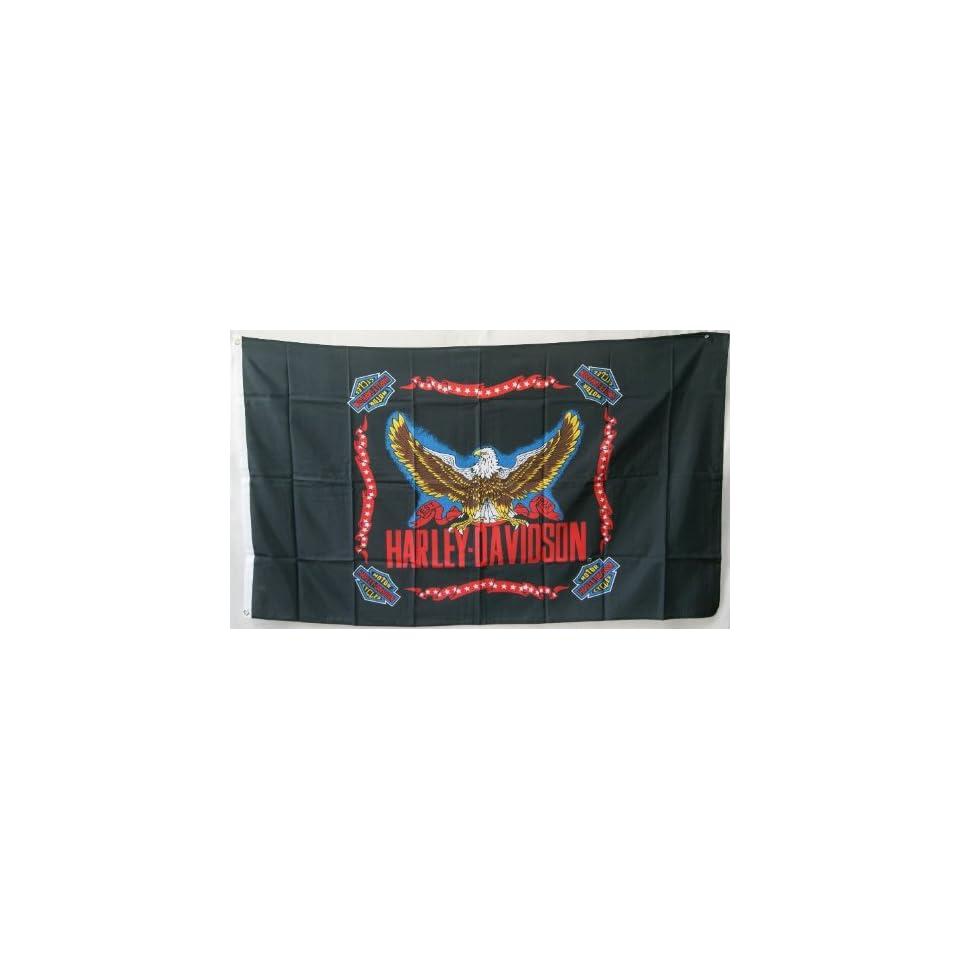 3x5 Harley Davidson Eagle Motorcycle Flag, biker