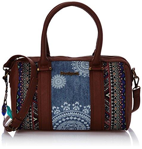 Desigual Bols Malta African Art, Damen Tasche, Blau (5006 Jeans), One Size thumbnail