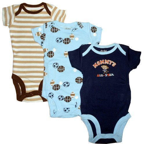 Child of Mine 3 Short Sleeve Bodysuits - Mommy's All Star