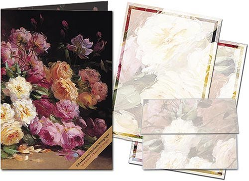 Basket of Roses - Stationery Gift Set (20 sheets and 12 envelopes)