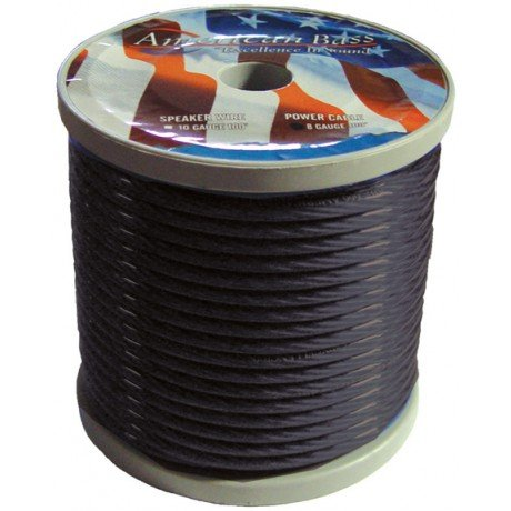 Whamr8Gb * Wire American Bass 8 Ga Smoke Color 100Ft Roll