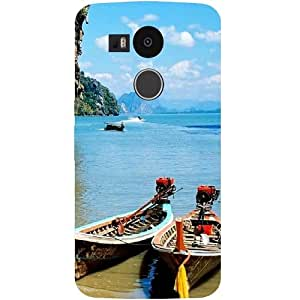 Casotec Sea View Design Hard Back Case Cover for LG Nexus 5X