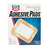 Rite Aid Adhesive Pads, Sheer, All One Size, 3