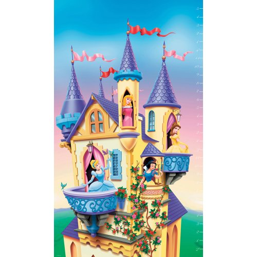 Blue Mountain Wallcoverings DF059904C Princess Prepasted Growth Chart, Measures up to 4-Foot-5-Inch High - 1